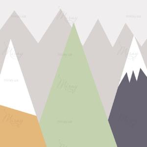 Горы в скандинавском стиле серые_498