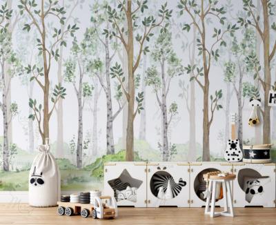 d-14-145-Акварельные деревья-Детск