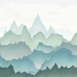 d-22-015-Горы зелено-голубые градиент