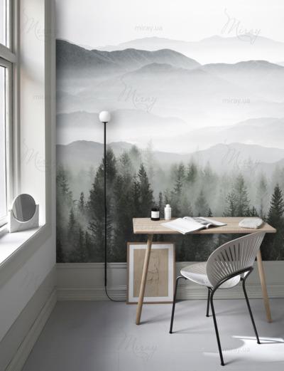 d-14-161-Лес и горы в тумане